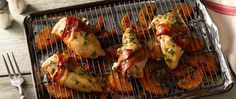 Chicken, bacon and butternut squash come together on one sheet pan for an easy supper you won't forget.