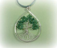Teardrop Tree of Life Necklace Pendant  by TheBeadedButterfly, $25.00