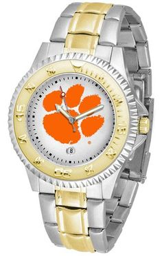 NCAA Men's Clemson Tigers Competitor Two-Tone Watch
