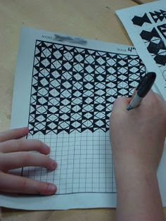 Adventures of a Middle School Art Teacher: 7th Grade ~ OP Art lesson using graph paper. Kids enjoy this one.