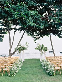 Seaside wedding ceremony: http://www.stylemepretty.com/2016/12/08/pantone-2017-color-of-the-year-greenery-wedding/ Photography: Ryan Ray - http://www.ryanrayphoto.com/