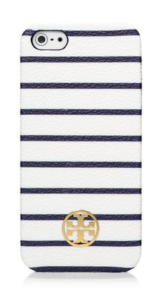 A polished shape + timeless maritime stripes = the Tory Burch Robinson iPhone5 case