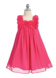 Fushia Simple Elegant Girl Dress