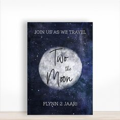 Verjaardagsbord 2 jaar two the moon Moon Mat, Party Decoration, This Is Us, Entertaining, Products, Funny, Gadget