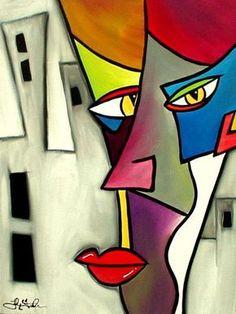 Art: Faces 7 by Artist Thomas C. Art Visage, Abstract Face Art, Cubism Art, African Art, Painting & Drawing, Sculpture Art, Pop Art, Art Projects, Art Drawings