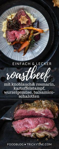 roastbeef aus dem ofen - so gelingt es ganz einfach ♥ trickytine.com #roastbeef #trickytine #food #blog #meat