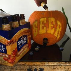 It's #beerthirty at @wehatesheep and we're having a pumpkin carving contest. This one wasn't mine but I'll post my team's later. ;) #fallfun #agencylife