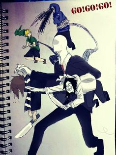 Slender and rake the only two creepys that actually scare and have an actual reason for what they are Creepy Pasta Funny, Creepy Pasta Comics, Creepy Pasta Family, Jeff The Killer, Creepypasta Slenderman, Creepy Monster, Eyeless Jack, Ben Drowned, Urban Legends