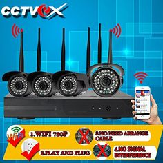 Special Offers - Cctvex HD 720P Wifi Home Security Camera System Wireless Digital Ip Cctv Security Camera Video Surveillance Outdoor Night Vision Wide Angle NVR Kit Baby Monitor (Play And Plug) - In stock & Free Shipping. You can save more money! Check It (June 24 2016 at 07:29PM) >> http://smokealarmsusa.net/cctvex-hd-720p-wifi-home-security-camera-system-wireless-digital-ip-cctv-security-camera-video-surveillance-outdoor-night-vision-wide-angle-nvr-kit-baby-monitor-play-and-plug/