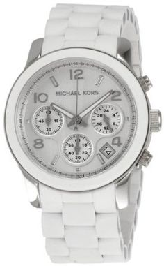 Michael Kors White Polyurethane Chronograph Ladies Watch MK5423