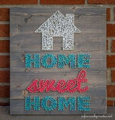 How to Make Easy String Art Designs By DIY Ready. http://diyready.com/12-easy-diy-string-art-ideas-to-hang-in-your-home/