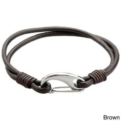 Stainless Steel and Leather Mens Bracelet (Black Leather Bracelet with Lobster Claw), Size: 8 Inch Braided Bracelets, Bracelets For Men, Fashion Bracelets, Bracelet Men, Fashion Jewelry, Making Bracelets, Black Leather Bracelet, Leather Jewelry, Leather Bracelets