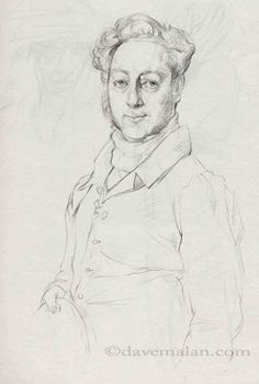 Drawing by Jean Auguste Dominique Ingres.