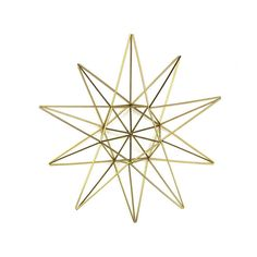 10 POINTED STAR tree topper by meandshestudios on Etsy Star Tree Topper, Tree Toppers, 7 Pointed Star, Handmade Ornaments, Handmade Gifts, Straw Crafts, Geometric Star, Metal Stars, Star Wall