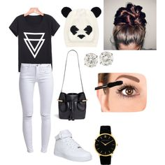 Untitled #32 by dias-elodieferreira on Polyvore featuring polyvore fashion style ONLY NIKE Chloé Larsson & Jennings