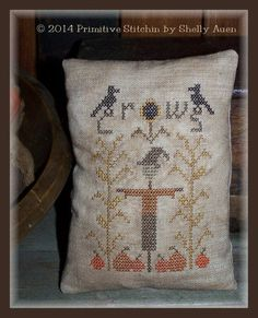 "PRIMITIVE STITCHIN' ""Crows In The Corn"" 
