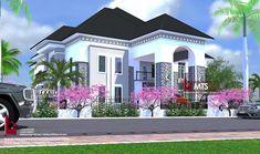 5 BEDROOM DUPLEX (RF D5004) - Best Modern House Design, Modern House Plans, Bungalow House Design, House Front Design, Duplex Floor Plans, Classic House Exterior, House Design Pictures, Beautiful House Plans, Modern Architecture House