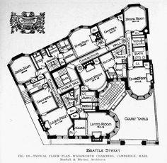 Floor plan of the Wadsworth Chambers, Cambridge