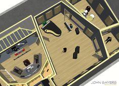 Useful Studio Designs. Recording Studio Setup, Home Studio Setup, Studio Layout, Studio Build, Studio Interior, Audio Studio, Music Studio Room, Studio Floor Plans, Studios Architecture