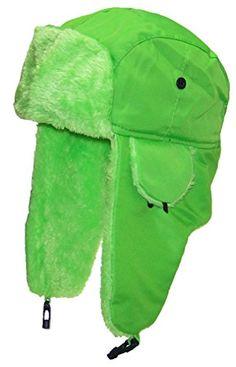 728834308a2 Best Winter Hats Big Kids Lightweight Neon Russian Trooper Faux Fur Hat(One  Size