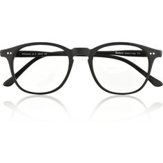 Illesteva Whitman D-frame matte-acetate optical glasses found on Polyvore
