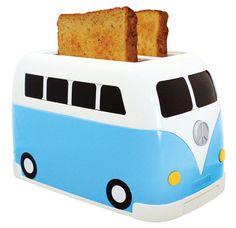 VW Campervan Toaster - http://www.differentdesign.it/2013/11/05/vw-campervan-toaster/