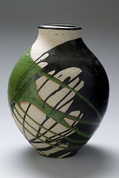 green - vase - ceramic - Matthew-Grimes