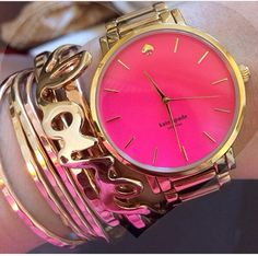 Pink Kate Spade watch.....love it!