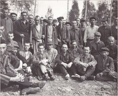 Mauthausen survivors after liberation of the camp