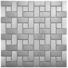 tile for shower. Merola Tile Meta Spiral in. Stainless Steel Over Porcelain Mosaic Wall Tile-MDXMSSST at The Home Depot Ceramic Mosaic Tile, Mosaic Wall Tiles, Mosaic Glass, Modern Kitchen Backsplash, Backsplash Ideas, Stainless Steel Metal, Metal Mesh, Stone Tiles, Flooring