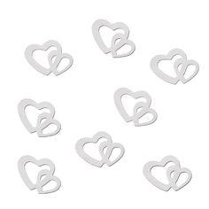 Herz Konfetti Tischdeko Liebe Romantik Hochzeitsdeko - weiß in Dekoration  • Konfetti