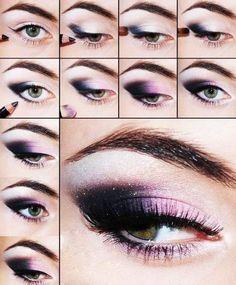 Purple Dark Eye Shadow Makeup Tutorial