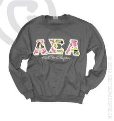 Alpha Sigma Alpha Sewn On Crew Sweatshirt