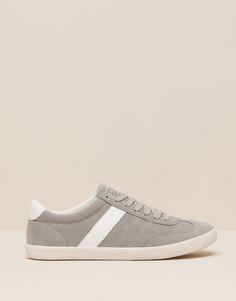 Pull&Bear - femme - chaussures femme - tennis basiques - gris - 15760011-I2015