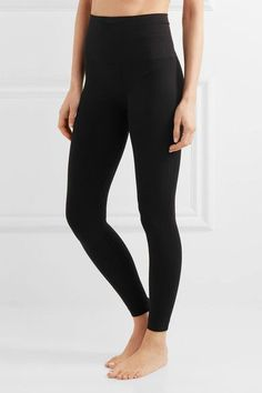 Spanx - Look At Me Now Stretch-jersey Leggings - Black -
