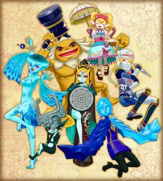 The Legend of Zelda: Hyrule Warriors / Princess Ruto, Darunia, Princess Agitha, Sheik,Twili Midna, Imp Midna, and Fi / 「【ゼルダ無双】よく使うキャラ」/「揺月」の漫画 [pixiv] [01]