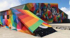 #designmk #design #urban #urbanart #art #streetart #graffiti #Okuda #pop #surrealism #colors #artgraffiti