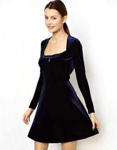 ASOS Velvet Skater Dress