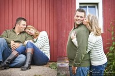 Cute barn engagement session - Kate Saler Photography