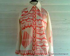 Vintage 1960s Shirt  PEACHES and Cream Mod by runaroundsuevintage, $14.00