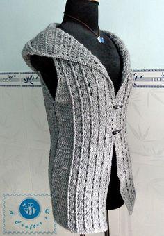 Crochet Overcast vest - Maz Kwok's Designs