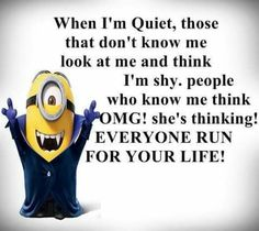 humor bilder For all Minions fans this is your lucky day, we have collected some latest fresh insanely hilarious Collection of Minions memes and Funny picturess Minion Jokes, Minions Quotes, Funny Minion, Minion Face, Minion Sayings, Funny Sayings, Fitness Factory, Extreme Fitness, Funny Jokes