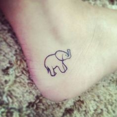 baby elephant ankle tattoo...maybe two baby elephants for my angel babies