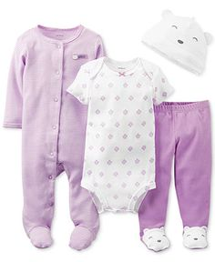 Carter\'s Baby Girls\' 4-Piece Bear Set - Kids - Macy\'s