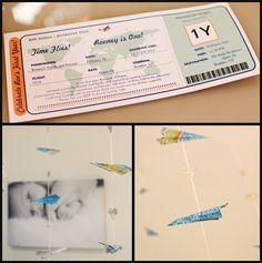 We adore the Plane Ticket Invitations from @Zazzle Inc.! #partyinvites
