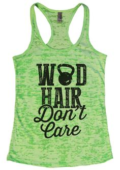 WOD HAIR Don't Care Burnout Tank Top By Womens Tank Tops