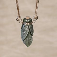 Sage Smudge Stick Bottle Necklace.