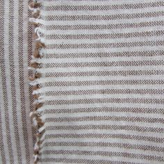 VIEWPOINT Railroaded woven organic Ticking Fabric by reneesfabrics