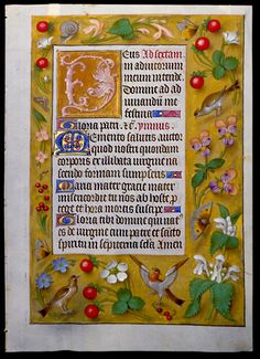 Book of Hours (Text of the Hours of the Virgin). Bruges; early 16th century.