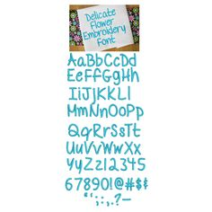 DBJJ 748 Delicate Flower Embroidery Font  .5 inch, .75 inch, 1 inch, 1.25 inch, 1.5 inch, 1.75 inch, and 2 inch